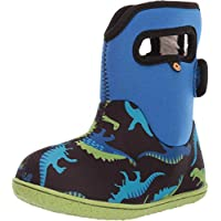 BOGS Kids Baby Dino Blue Multi Dinosaur Rain Wellington Boots Size 7