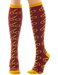 Preisvergleich für Harry Potter Glasses Overknees rot/gelb