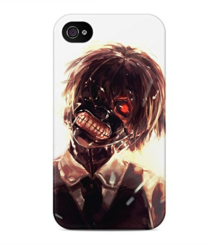 Tokyo Ghoul Ken Kaneki Cannibal Hard Plastic Snap On Back Case Cover For iPhone 4 / 4s Custodia