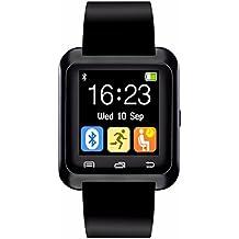 CHEREEKI Smartwatch Bluetooth Smart Watch Reloj Inteligente Teléfono Inteligente con Podómetro Compatible con Android Smartphones Samsung HTC LG Huawei Sony Motorola