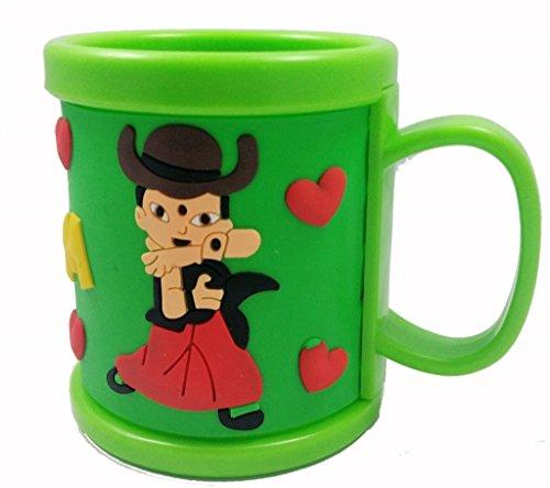 Evisha chota bheem Kids Mug (Green)  available at amazon for Rs.159
