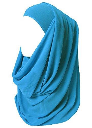 Lina & Lily Lina & Lily Damen Muslim Hijab Kopftuch Schal (Azur Blau)