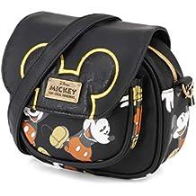 e6dc359ae Karactermania Mickey Mouse True Bolso Bandolera, 18 cm, Negro