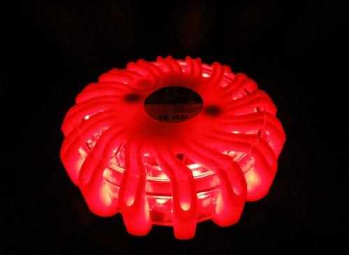 Preisvergleich Produktbild Warnblinkleuchte 16 LED Warnblitzer mit Magnet Rundumleuchte Absicherung