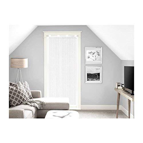 Soleil d'ocre Maelis Brise Bise, Polyester, Blanc, 90x200 cm