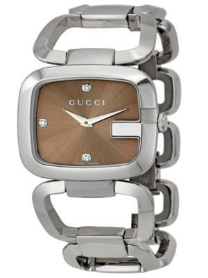 Gucci–Montre bracelet de femme, acier inoxydable, couleur argent