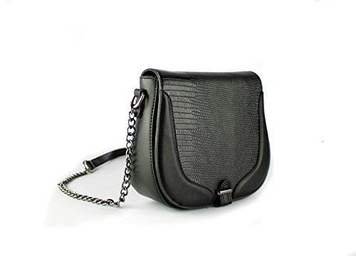 FoxLady ,  Elegant strukturierte Tasche für Frauen Schultertasche Schwarz