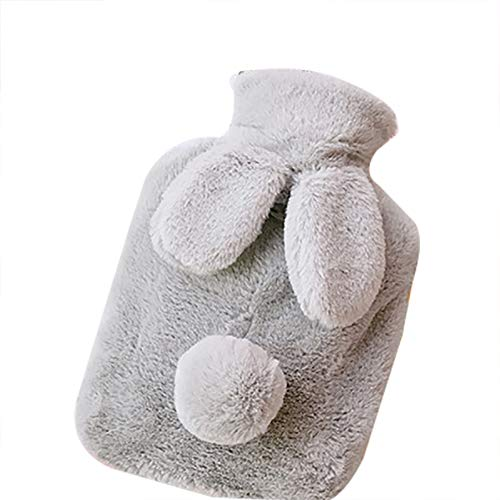Meigold 1 Stück Wärmflasche Karikatur Plüsch Kaninchen Wärmflasche 1 Liter Handwärmer warme Tasche Wintergeschenk Size 24 * 16.5CM
