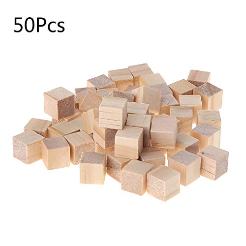Angelliu - Mini Cubos Madera Maciza no Acabados Bloques
