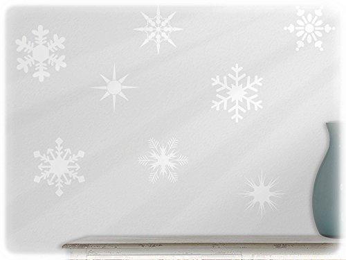 wandfabrik - Wandtattoo - 10 tolle Schneeflocken