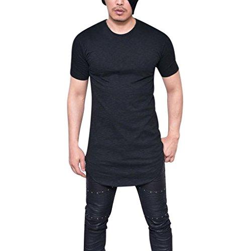UFACE Herren Solid T-Shirt Kurzarm Männer Slim Fit O Hals Kurzarm Muscle T-Shirt Casual Tops Bluse...