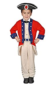 Dress up America - Disfraz de soldado colonial deluxe, talla M, 8-10 años (294-M)