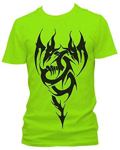 NEON Herren T-Shirt J.Roxx Drachen Tribal Fun, Größe:M;Farbe:neon grün