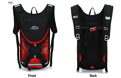 West Biking 2L Radfahren Rucksäcke Fahrrad Back Pack MTB Rennrad Bag Cycle Ausrüstung Sport Wandern Camping Taschen rot - rot