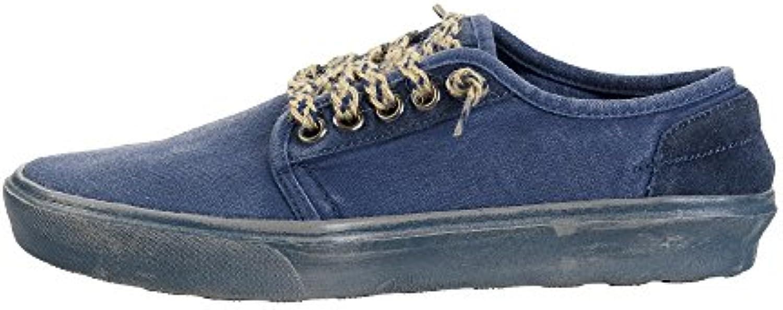 Dude Shoes Herren Buster Gewaschen Stahlblau