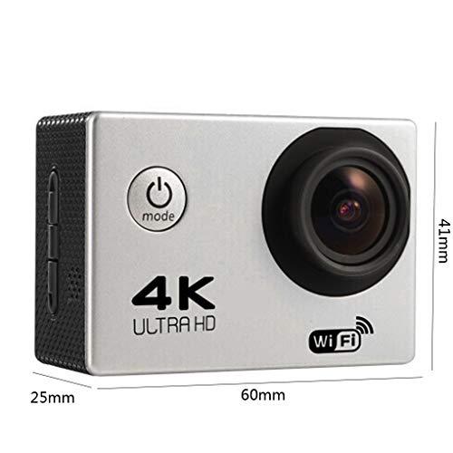 Pandiki HD 4K WiFi-Action-Kamera 170D Weitwinkel Sport DV 30M wasserdicht Sport-Video-Fahrrad-Sturzhelm-Nocken Mini-DVR