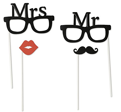 Mr. & Mrs. Party Set 4 tlg. Foto Verkleidung