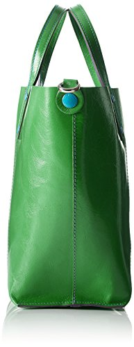 Gabs Damen Lady Henkeltasche, 13 x 23 x 40 cm Grün (Smeraldo)
