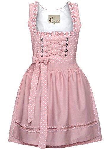 Alte Liebe Trachtenkleid 2tlg. Dirndl Kleid 34,36,38,40,42,44,46, Rosa, 40