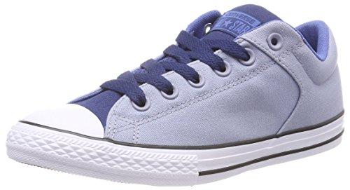 Converse Unisex-Kinder CTAS High Street Slip Glacier Grey/Navy on Sneaker, Mehrfarbig (Glacier Grey/Navy/Nightfall Blue), 35 EU (Canvas-slip-sneakers)