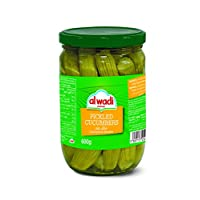 AL Wadi Pickle Cucumbers in Jars Drained Weight 420 gm Net Weight 600 gm