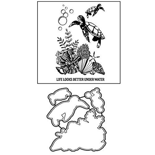flyWANG Schildkröte Metall DIY Stanzformen Schablone DIY Scrapbooking Präge Papier Karte Dekor -