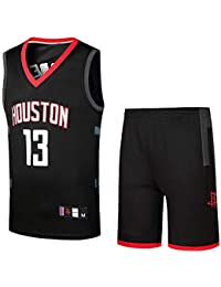 e4eb64b3f Magliette Fan NBA Houston Rockets Harden Basket Uniformi Teen T-shirt Gilet  Tute Da Allenamento