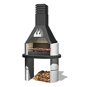 sarom barbecue chemin e de jardin design flamme bricolage. Black Bedroom Furniture Sets. Home Design Ideas