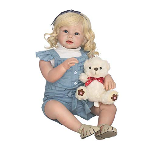 FHSGG Reborn Baby Dolls Höhe 70Cm Schöne Mädchen Weiche Silikon Vinyl Lebensechte Realistische Puppe Spielzeug Sammeln Geschenk (Puppe Sammeln)