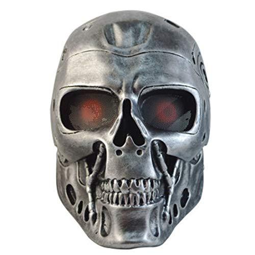 Halloween Terminator Kostüm - HAOBAO Resin Sammler Maske Vollgesichtsmaske Terminator Maske Cosplay, Silber