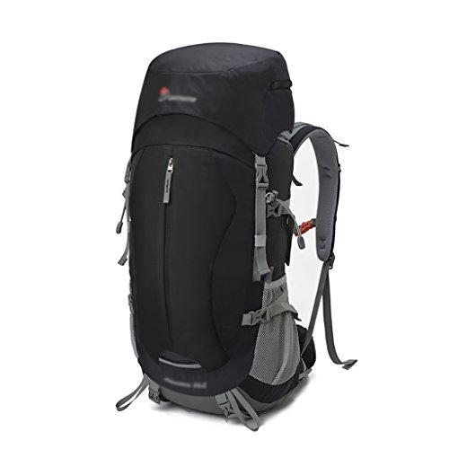 HWLXBB Outdoor Bergsteigen Tasche Männer und Frauen 45L + 5L Wasserdichte Mehrzweck-Bergsteigen Tasche Wandern Camping Bergsteigen Freizeit Rucksack Rucksack 2*