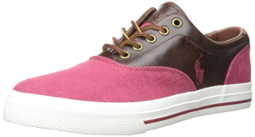 Polo Ralph Lauren Vaughn Saddle Fashion Sneaker Red/Tan