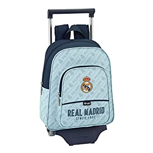 41deTOl3c7L. SS300  - Safta Mochila Infantil Real Madrid Corporativa Oficial Con Carro Safta 125x95mm