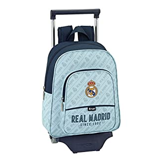 41deTOl3c7L. SS324  - Safta Mochila Infantil Real Madrid Corporativa Oficial Con Carro Safta 125x95mm