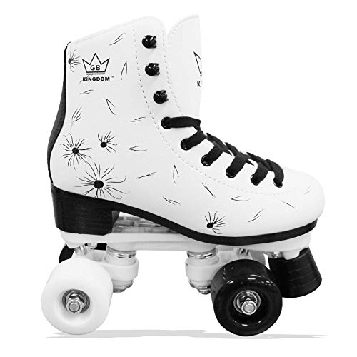Kingdom GB Venus v2 Quad Rollschuhe 4 Rollen Skates (Weiß/Schwarz, 40 EU)