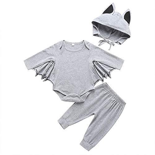 Helden Deiner Kindheit Kostüm - Halloween Kostüme Baby,Schwarz Batwing Strampler Neugeborenes