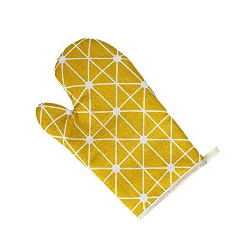 Pingrog Ofen Dicker Handschuhe Rutschfeste Isolierung Handschuhe Küche Ofen Handschuhe Unikat Baumwolle Hitzebeständig Backen Werkzeuge Isolierte Handschuhe Dunkelgrau (Color : Gelb, Size : Size)