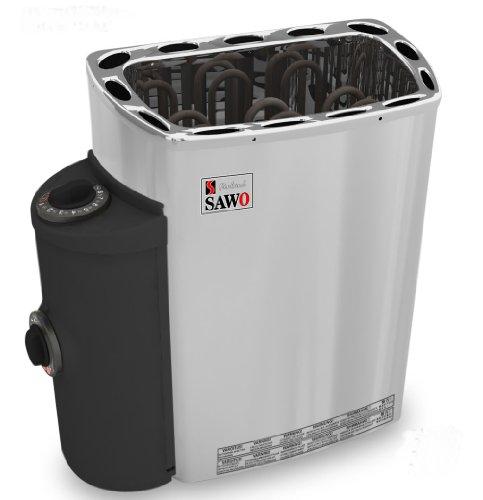 Well Solutions Saunaofen 3,6KW 230V Sauna Ofen mit seitliche Steuerung (links oder rechts) u...