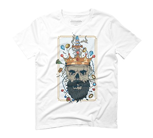 King Nothing Men's Graphic T-Shirt - Design By Humans White