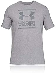 Under Armour UA GL Foundation SS T Camiseta, Hombre, Gris (Steel Light Heather/Graphite 035), M