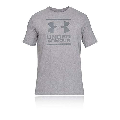Under Armour Herren atmungsaktives Sportshirt, kurzärmliges und Komfortables Funktionsshirt mit Loser Passform UA GL Foundation SS T, Grau, LG - Herren Trainings-shirt Armour Under