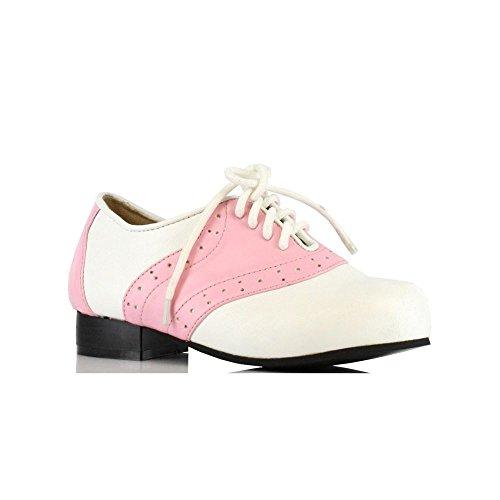 (Ellie Shoes Kinder 's Pink und Weiß Sattel Schuh)
