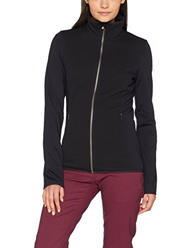 Columbia Damen Full Zip Fleece (Columbia Fleecejacke für Damen, Roffe Ridge Full Zip FLEECE, Polyester, Schwarz (Black), Gr. L, 1748381)