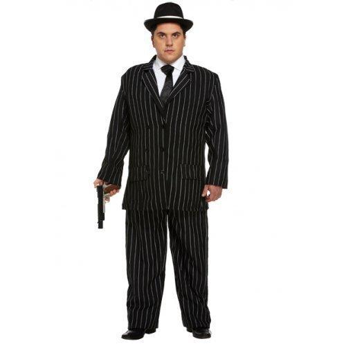 r Bugsy Malone Great Gatsby Pinstriped Masquerade Kostüm Outfit STD & XL (Great Gatsby Kostüm Herren)