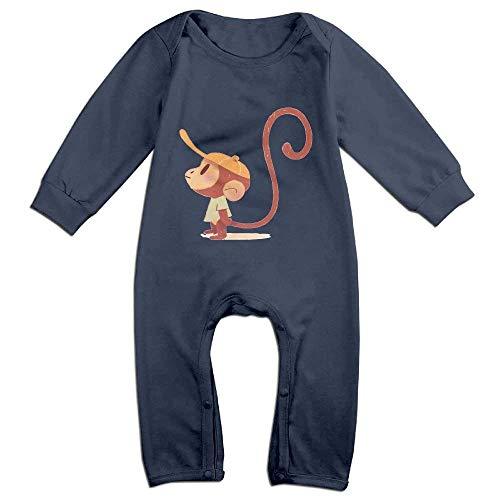 fhcbfgd Baby Rompers Cool Monkey Coverall Romper Unisex Bodysuit Jumpsuit Monkey Infant Bodysuit