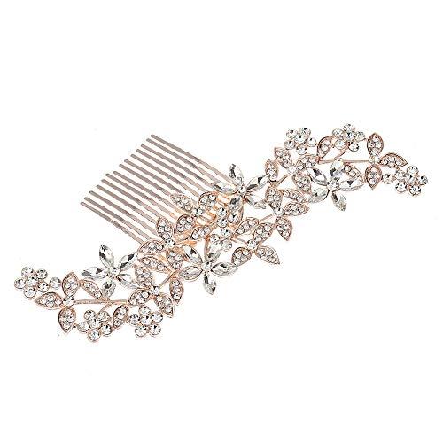 Prom Hair Comb Slide Party Beautiful Silver Crystal Rhinestone Bridal