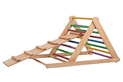 Triangolo Pik LeR, triangolo a gradini 80*80*115, scala rampicante per bambino, triangolo per bambini, rampe, diapositiva doppia faccia ,spross Triangolo, Brett.