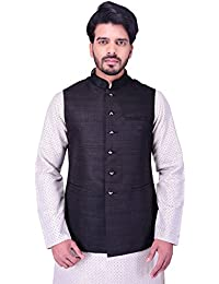 Manyavar Men's Regular Fit Waistcoat (WC00102)
