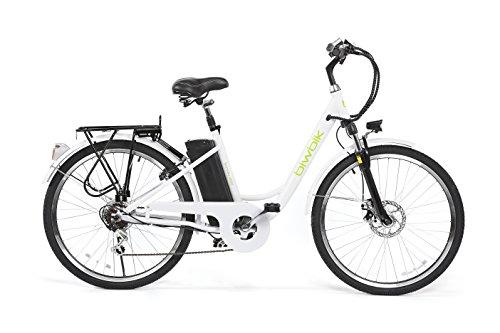 BIWBIK Sunray 200 Bicicleta Eléctrica, Unisex Adulto, Blanco, M