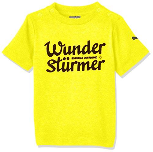 Puma Baby T Shirt BVB Minicats Graphic Tee Cyber Yellow/Wunder, 56